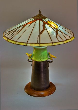Dark Hollow Stained Glass | Parasol Lamp | arts & Crafts | Bungalow