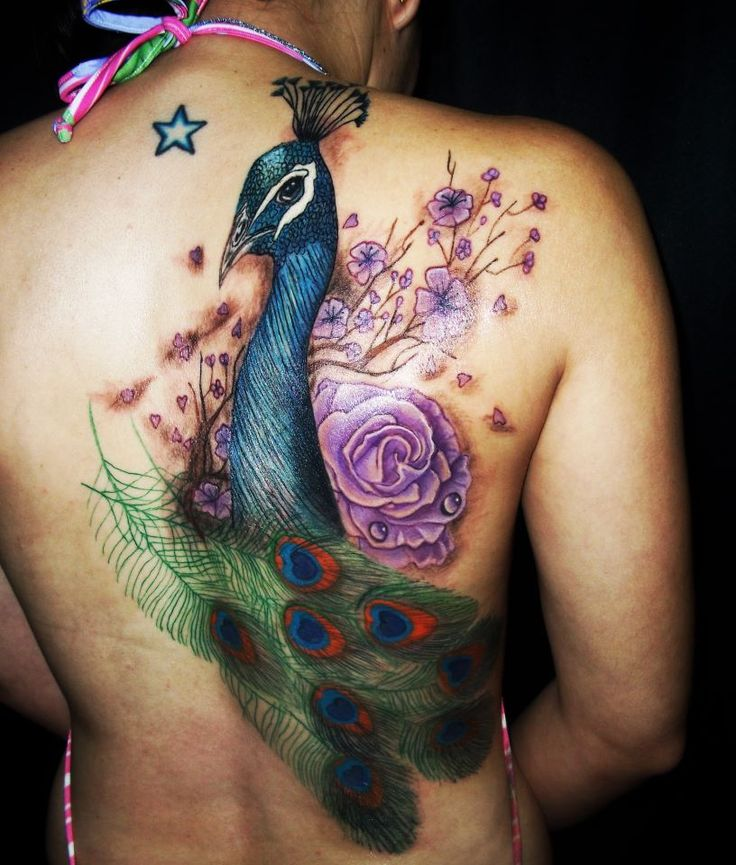 tatuagens 3d pavão