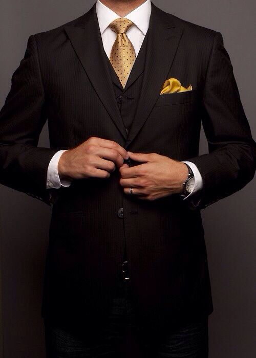 Not quite... sleeves too short... Shirt sleeve cuff too wide... Watch too bulky. Bunched pocket square is O.K. for curved features... and personally, I think better for personal wear not professional wear.