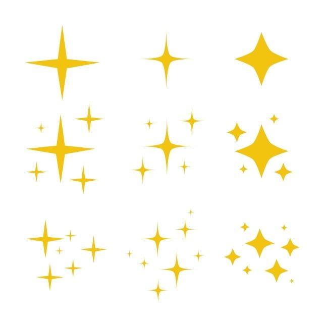 Musujace Czarno Bialy Symbol Wektor Zestaw Oryginalnych Musujacych Ikon Rozrusznika Blyszczacy Polysk Gwiazdy Blyszczacy Bl Ilustrasi Vektor Berkilau Ilustrasi