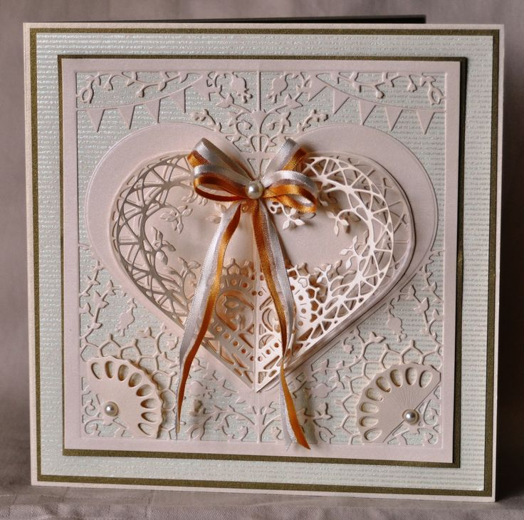 This was made with the Couture dies from Create and Craft. This could be used for Wedding, Valentine, Anniversary, engagement the possibilities are endless