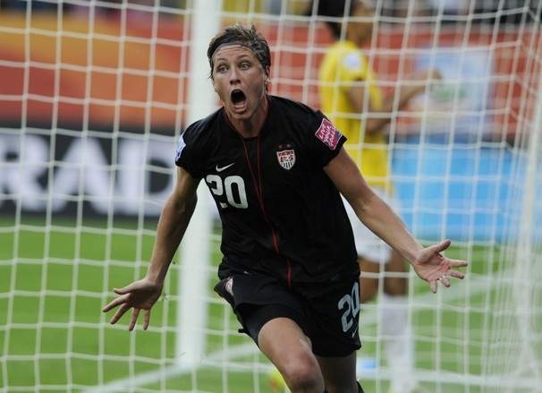 Abby Wambach's last minute goal. 2011 World Cup. USA victory over Brazil.