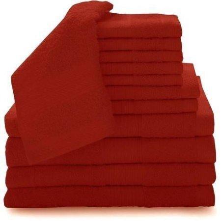 12-Piece Complete Luxury 100 Percent Cotton Towel Set With Hand Washcloths,Bath Towels,Bath Sheets
