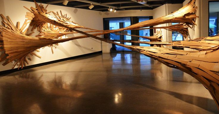 sticky bamboo installation by hongtao zhou   graduate students - designboom | architecture
