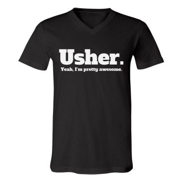 Funny Wedding Ushers Tee for wedding rehearsal, bridal parties or even bachelor parties!