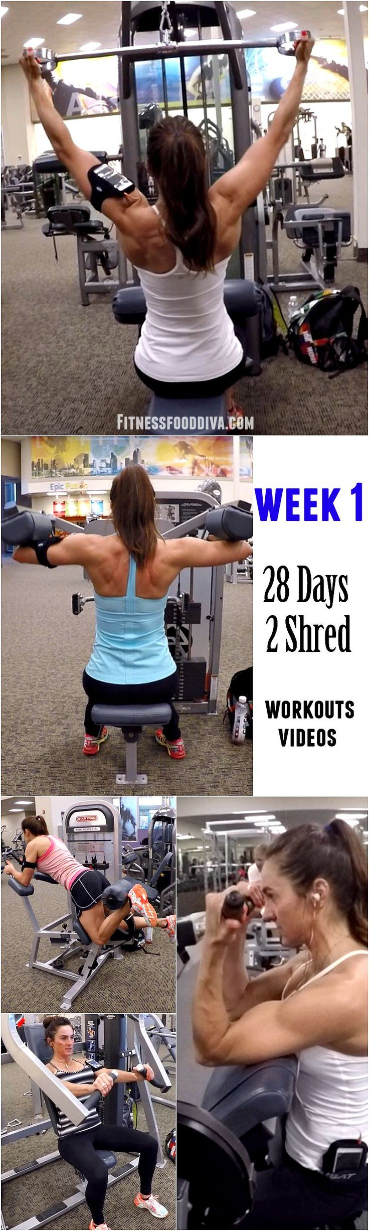 Week 1: 28 Days 2 Shred workout/videos