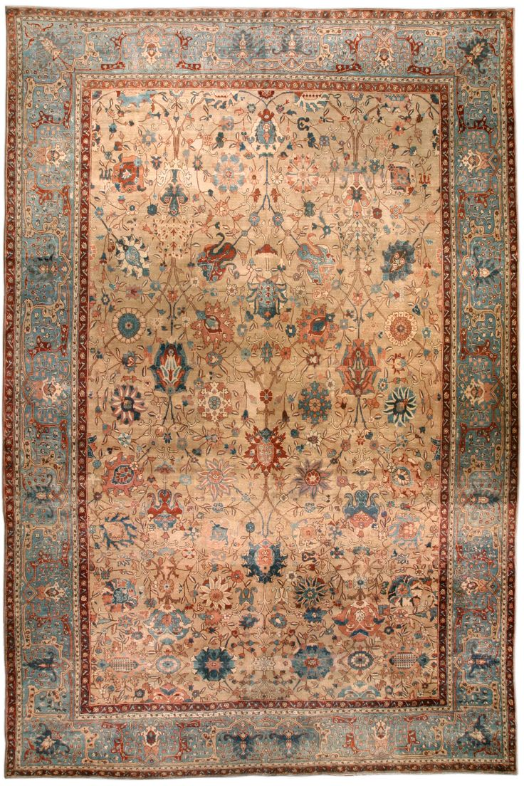 Antique Persian Tabriz Rug Bb4583 By Doris Leslie Blau