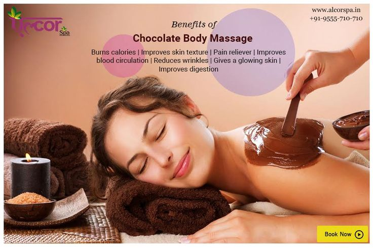 Did you know chocolate massage is a great solution for many health problems? With a range of health benefits #AlcorSpa offers #ChocolateMassage which focuses on realigning muscles and connective tissues.  Call at 9555710710 or visit our website http://alcorspa.in/book-appointment/ to book an appointment!