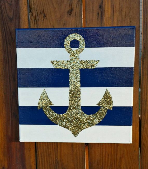 Delta Gamma Anchor Art  https://www.etsy.com/listing/212186435/12times12-hand-painted-nautical-glitter