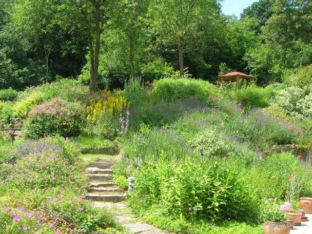 17 best images about jardin en pente sloping garden on pinterest terraced garden gardens. Black Bedroom Furniture Sets. Home Design Ideas