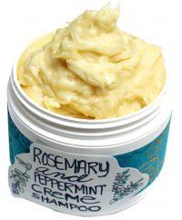 DIY Natural Rosemary Mint Cream Shampoo Recipe