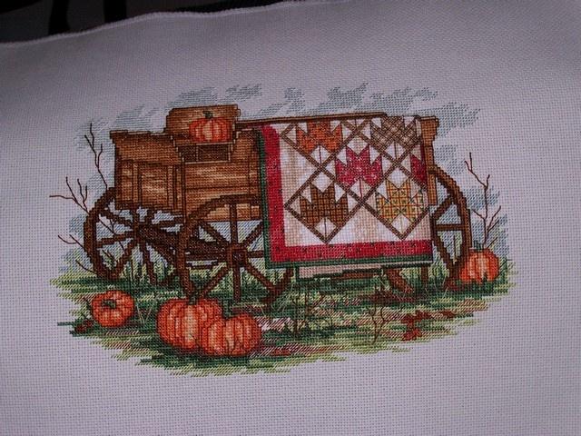 Paula Vaughn design I stitched for my BFF