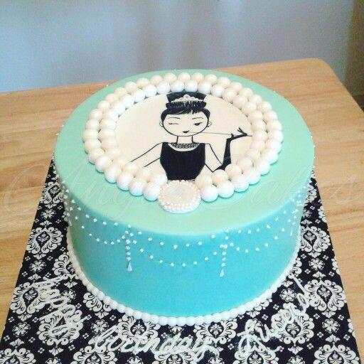 Breakfast at tiffany's birthday cake
