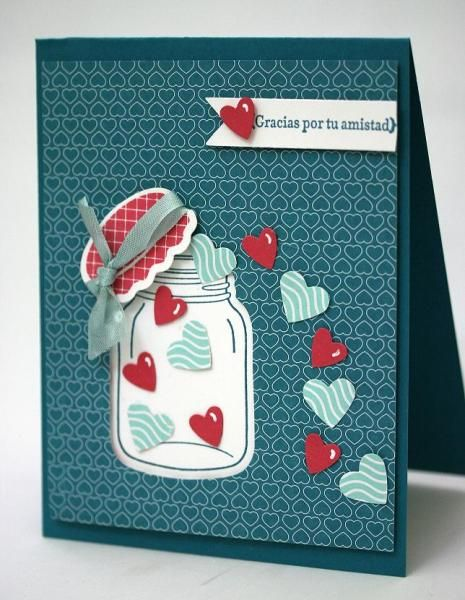 Poporri de San Valentín Looks like I'm going to have to make a board just for jar cards.
