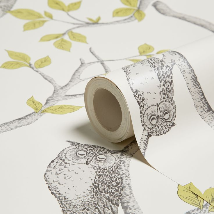 Fine Décor Woodland Owls Green Mica Effect Wallpaper | Departments | DIY at B