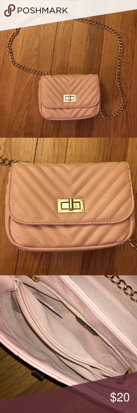Aldo Crossover Purse I love this ballet pink purse. It's small but has a bunch of storage space. It's great for everyday use. I used it once, it's in great condition. Aldo Bags Crossbody Bags