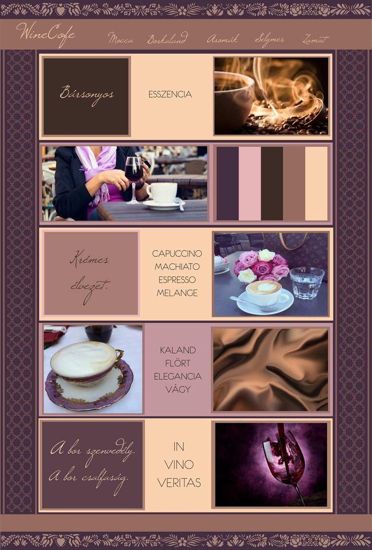 hangulattábla kávé és bor | Kreatív Webdesign Tanfolyam