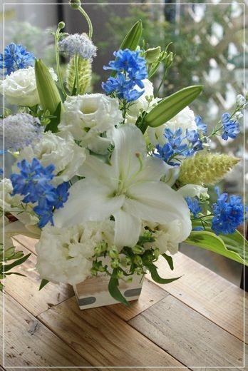 【今日の贈花】今日は迎え盆ですね。 Flower note の 花日記 (横浜・上大岡 アレンジメント教室)