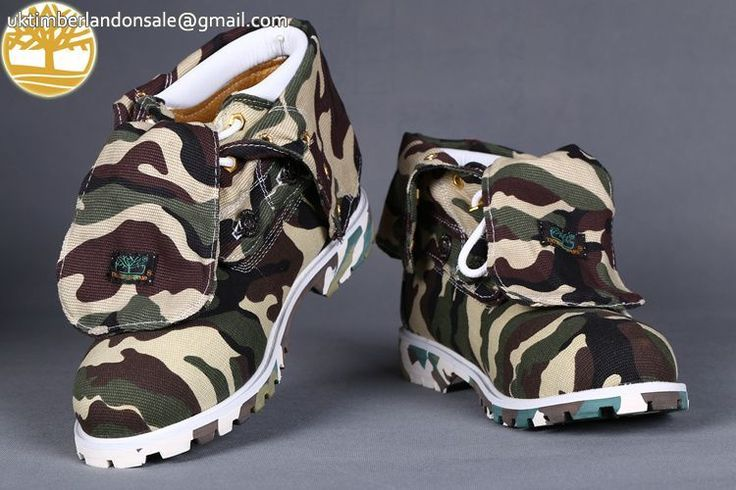 Custom New Timberland Roll Top Camo Waterproof Men Boots $85.99