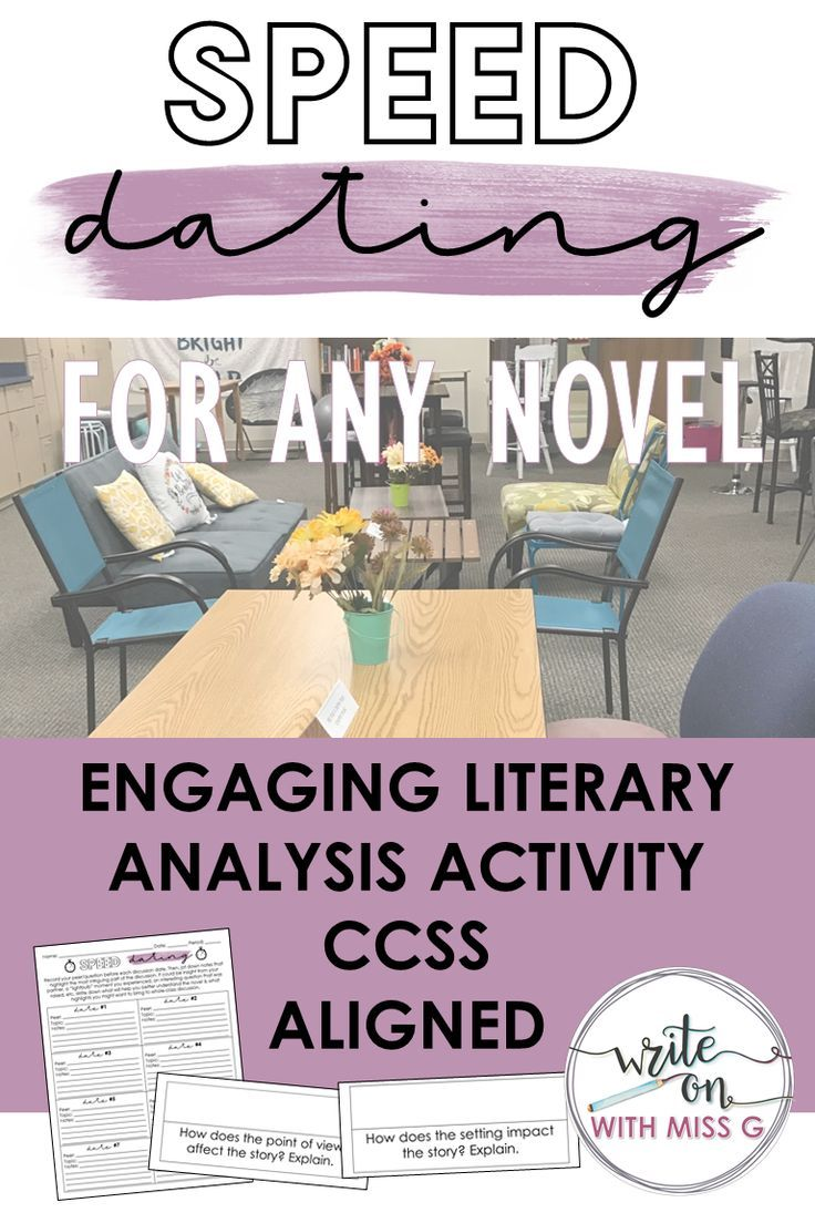 Engage All Of Your Students And Practice Literary Analysis With This Fun Speed Dati Literary Analysis Teaching High School English English Teacher High School