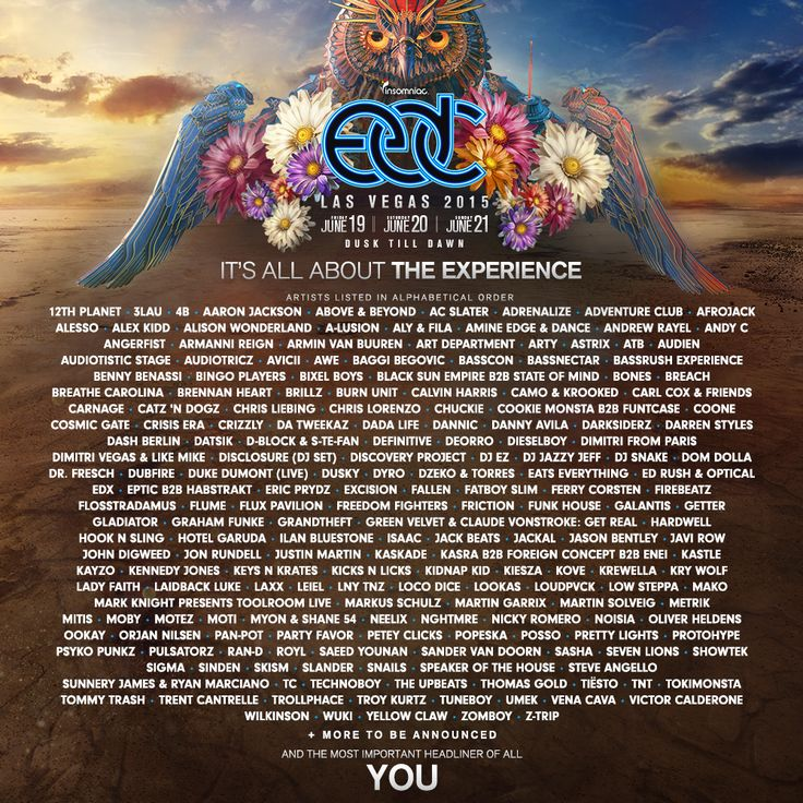 OMG The line up is SOOOO ridiculous! F Yeah i cant wait