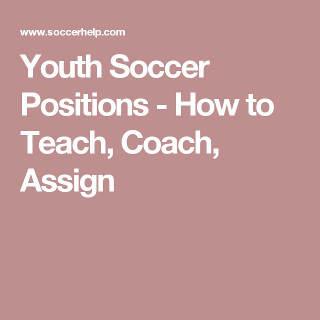 Youth Soccer Positions - How to Teach, Coach, Assign