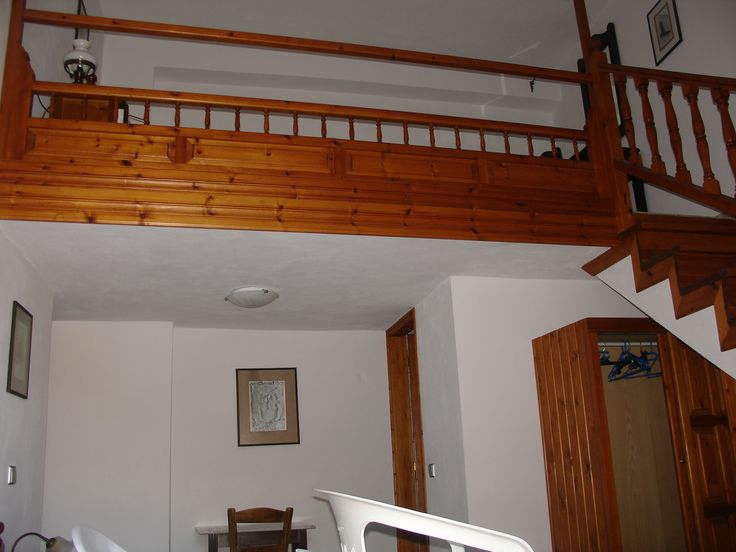 The mezzanine arrangement is typical of Skyrian accommodation. Included in our holiday price is twin shared accommodation like this mezzanine apartment.
