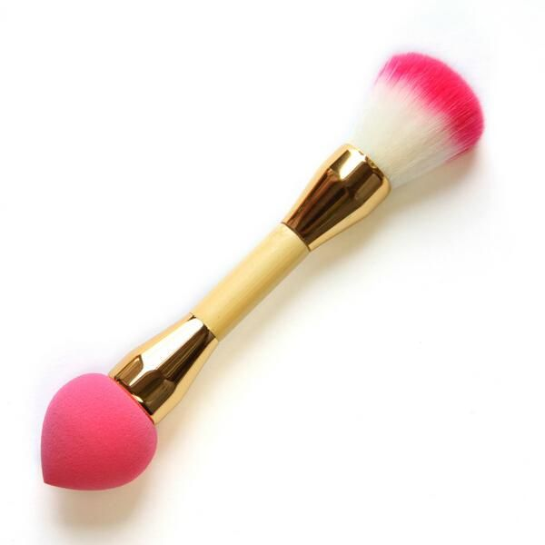 Cleaning Makeup Brushes High Quality Universal Two Heads Makeup Brushes Blusher Brushes Plus Sponge Brushes Puff Wood Handle Gold Tube Free Dhl Cosmetic Case From Lisa063410, $3.36| Dhgate.Com