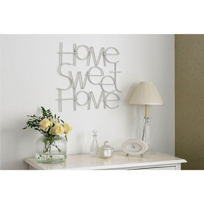 Home Sweet Home Metal Art - Metallic Wall Art by Graham Brown