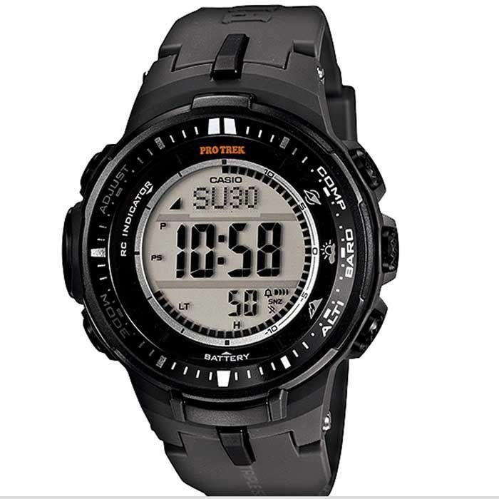 Genuine Casio Pro Trek PRW-3000-1DR Sport Watch - Black