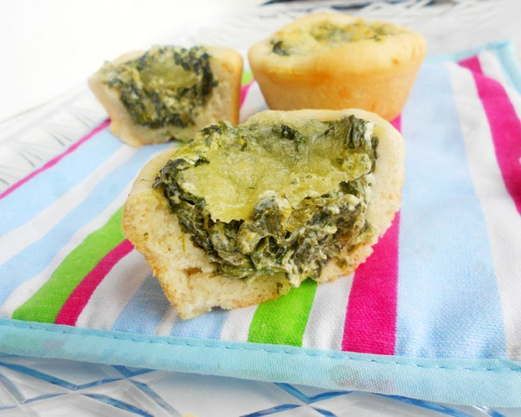 Baked Spinach Dip Mini Bread Bowls For the bread bowls 2 C all-purpose ...