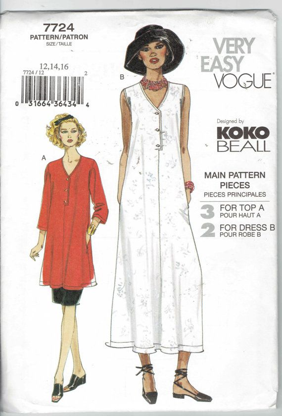 It's in my stash; gotta make this one someday: Vogue Koko Beall V-neck button-front top