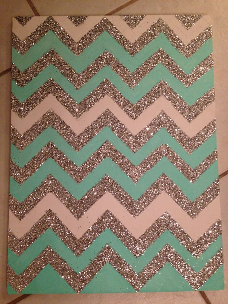 chevron canvas panting...I just love all the glitter, honestly