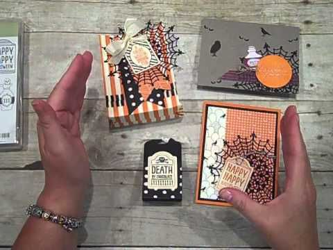 episode 457 stampin up halloween treat holder youtube - Halloween Treat Holders
