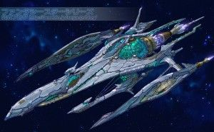 Awesome ship design from Phantasy star online 2.