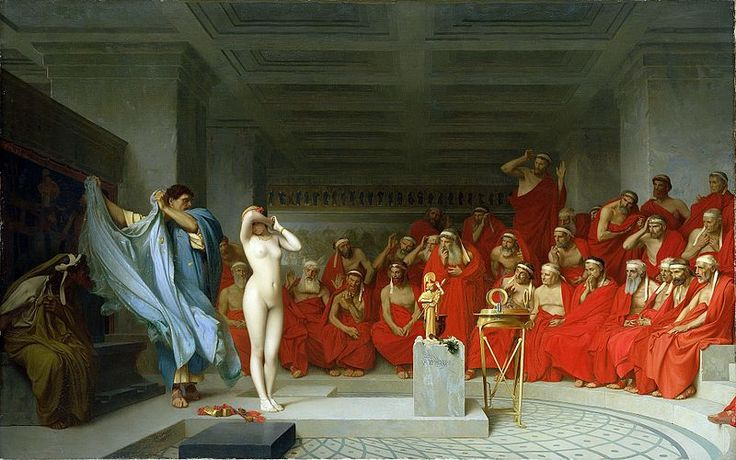 Jean-Léon Gérôme, Phryne revealed before the Areopagus (1861) - 01 - Jean-Léon Gérôme - Wikipedia, the free encyclopedia