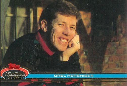 1991 Topps Stadium Club Baseball card of Orel Hershiser