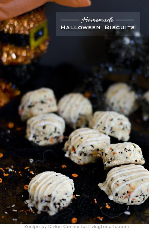 Homemade Halloween Biscuits. Simple Holiday Breakfast Recipe! LivingLocurto.com