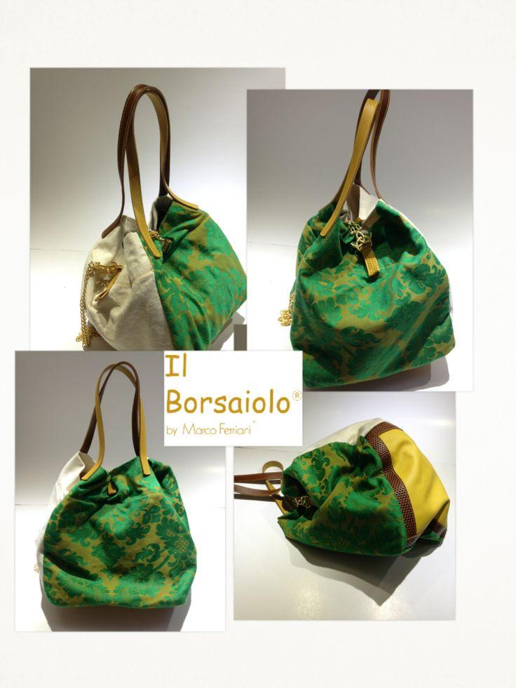 "GREEN BAG, New collection Spring Summer of Marco Ferriani ""Il Borsaiolo"" www.marcoferrianiborse.net"