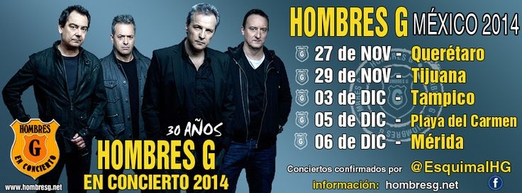 Después de seis meses Hombres Gvolverán a México para continuar con su gira de conciertos que empezaron el pasado mes de mayo de este mismo año y que debido a varios compromisos aquí en España no ...