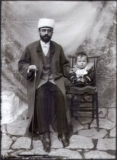 The Mufti of Kastoria with his Daughter by Leonidas Papazoglou