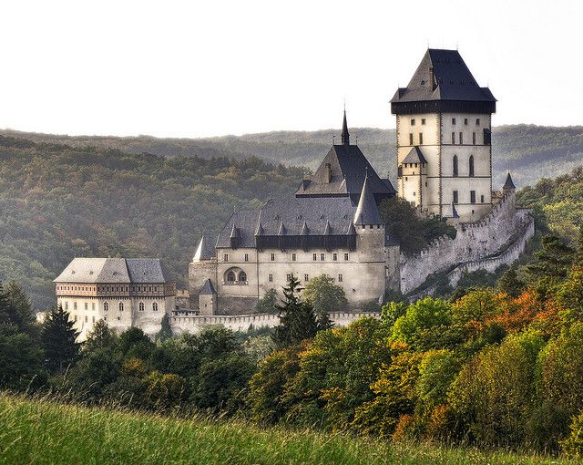 Karlštejn Castle, one of the most beautiful gothic castles in the Czech Republic