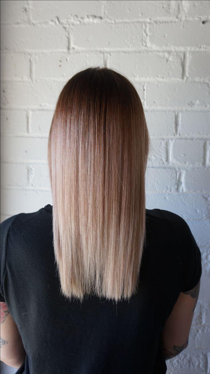 Beige/pink toner and a root fade #beigehair #pinkhair #theblacksheepsalon