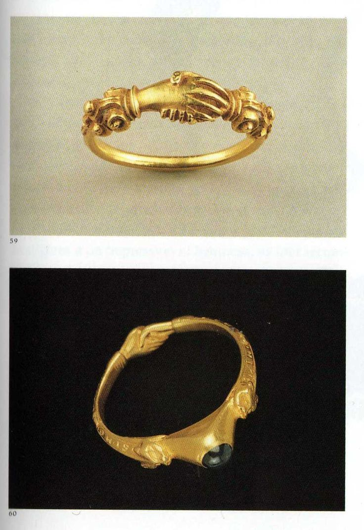 Ancient Roman Wedding Ring Gold fede rings 16th century
