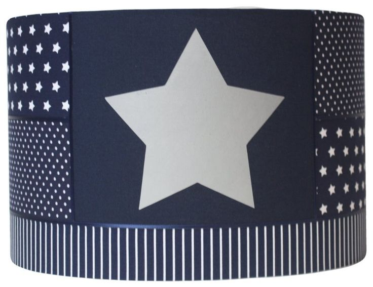 Lampenkap donkerblauw zilveren ster