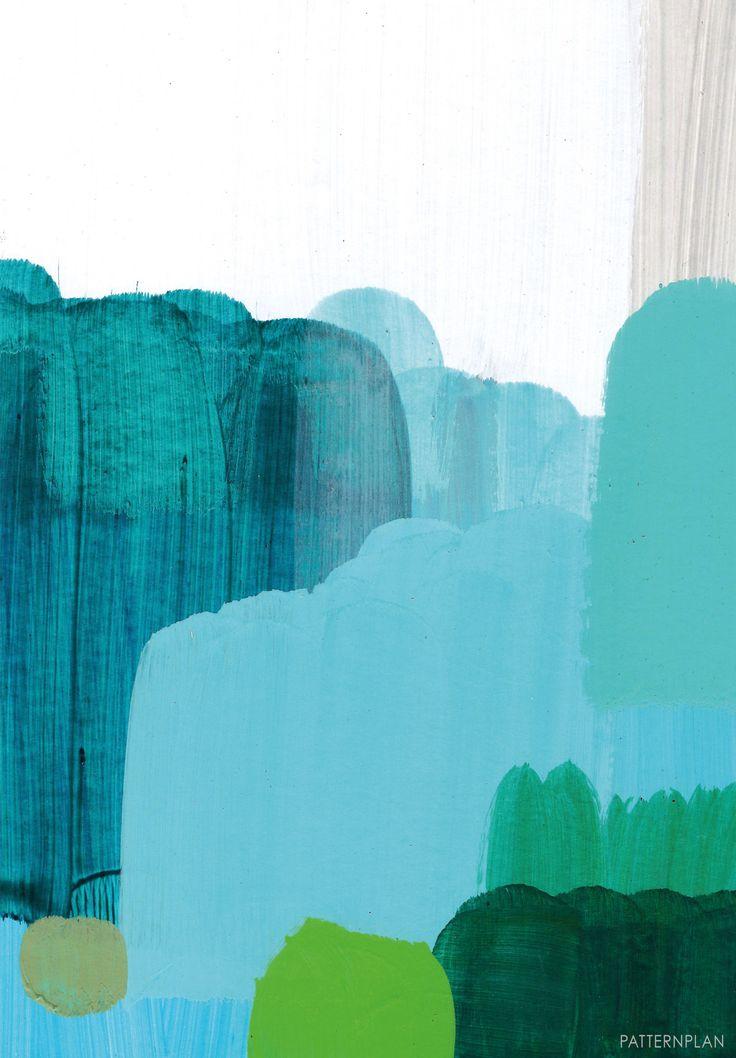 Posters för dina väggar: Blåregn art by Anette Carlsson Moberg
