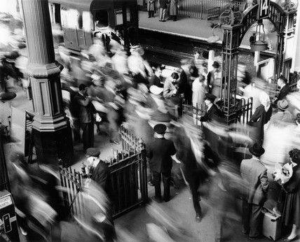 Rush hour at Victoria Railway station: c.1955, Bob Collins - it's not changed much