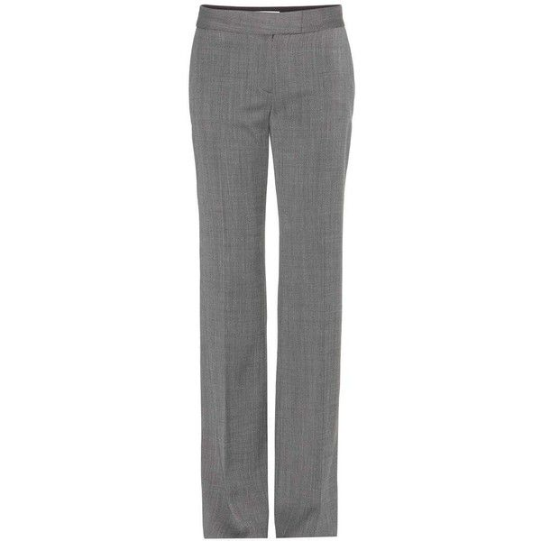 Stella McCartney Jasmine Wool-Twill Trousers ($270) ❤ liked on Polyvore featuring pants, брюки, wool trousers, wool pants, twill pants, twill trousers and stella mccartney