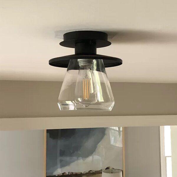 Templeton 1 Light 8 Simple Bell Semi Flush Mount Flush Mount Ceiling Lights Semi Flush Light