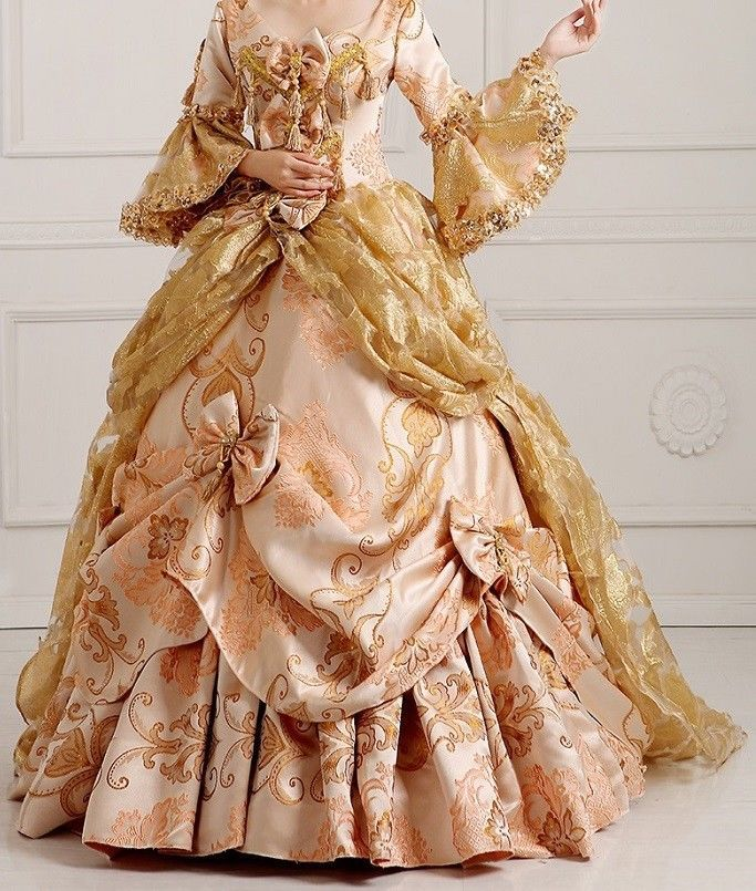 fancy ball gown old fashioned dress